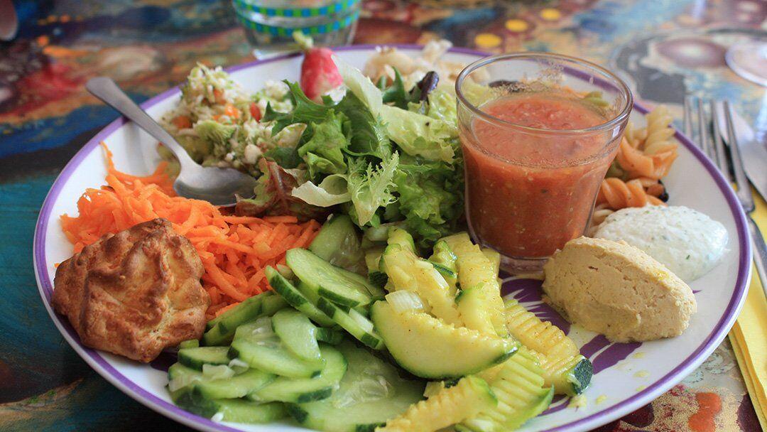 L'assiette végétarienne au Millefeuilles